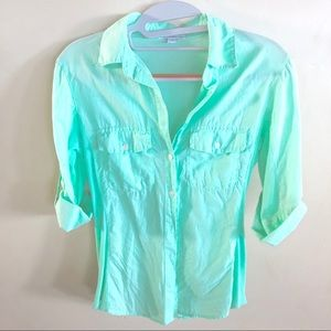 Standard James Perse Button Down in Mint